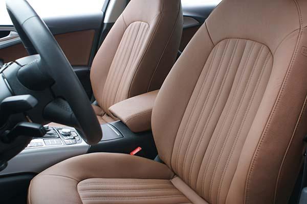Audi A6 Alba eco-leather Kaneelbruin