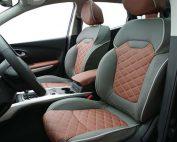 Renault Kadjar Buffalino Leder Groen Mustangbruin Diamond stiksel