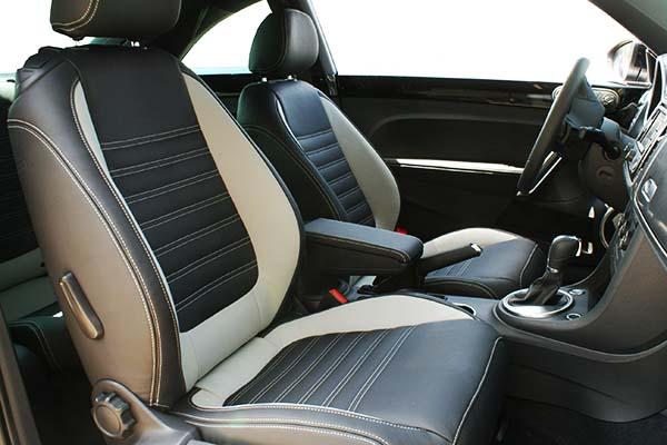 Volkswagen Beetle Sport Buffalino Leder Zwart Grijs