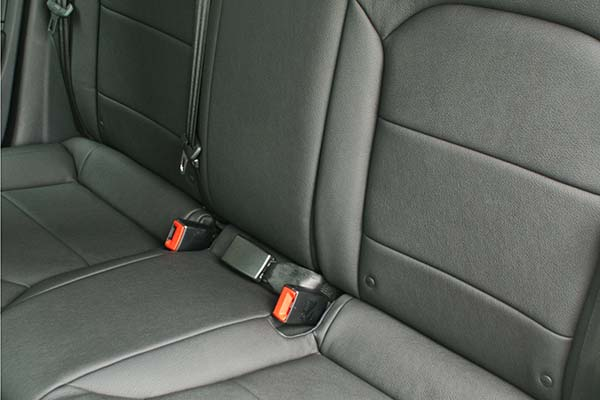 Audi A1 Alba eco-leather zwart Detail