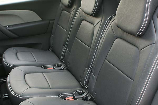 Citroen C4 Grand Picasso Alba eco-leather Zwart Achterbank
