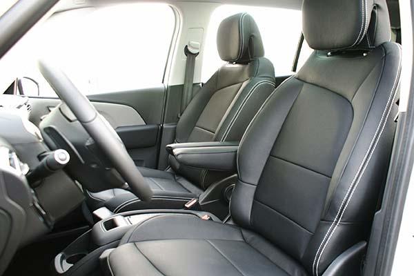 Citroen C4 Grand Picasso Alba eco-leather Zwart Voorstoelen