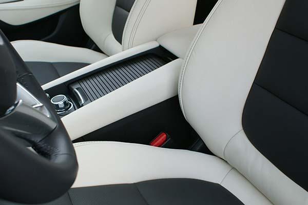 Mazda 6 Buffalino Leder Antraciet Wit Console