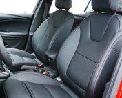 Opel Astra Buffalino Leder Barracuda Zwart Rood Stiksel