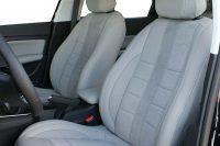 Peugeot 308 Buffalino Leder Titaniumgrijs Alcantara Geperforeerd Voorstoelen
