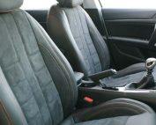 Peugeot 308 Buffalino Leder Zwart Alcantara Oranje Stiksel Voorstoelen