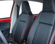 Seat Mii Alba eco-leather Zwart Rood stiksel Perforatie