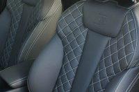 Audi A4 S-Line Buffalino leder Zwart Diamond Stiksel Wit Detail
